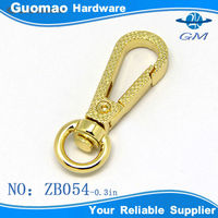 Embossed snap buckle hook for bag