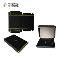 Product Box Matte Black Corrugated Shipping Boxes, mailer box