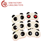 Custom Company Logo Plush Eyeshade Kawaii Panda Eye Shield Stuffed Black White Panda Eyes Mask