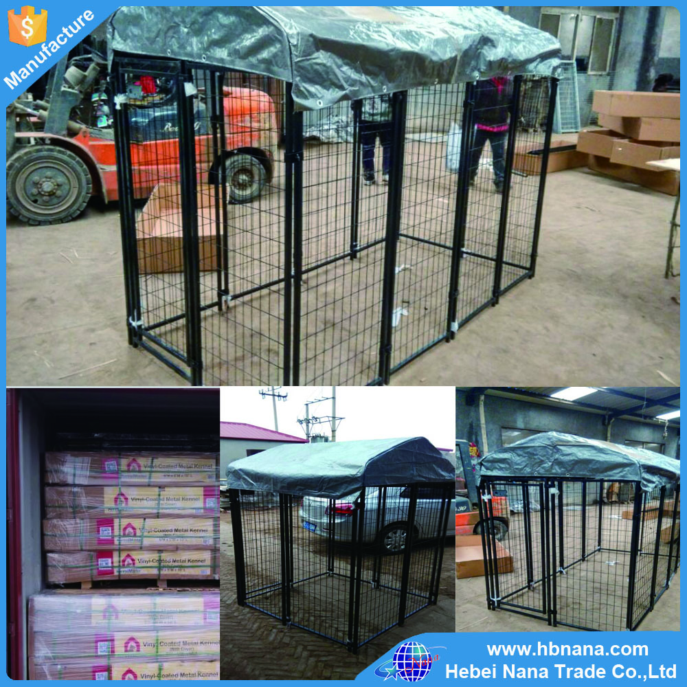 Large outdoor galvanised welded pet enclosure/dog kennels & dog cage & dog runs