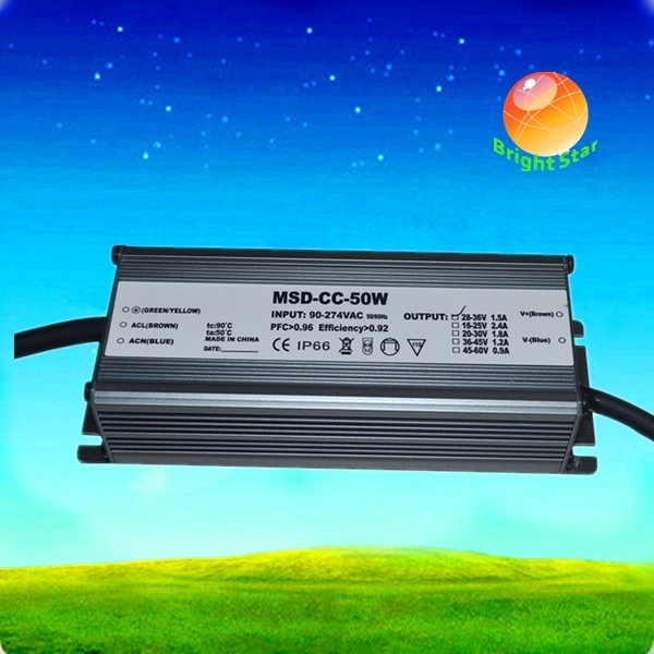 750mA 0-400W Selectable Waterproof Constant Current LED Power Supply with CE and RoHS for Outdoor Lighting LED Driver , 70