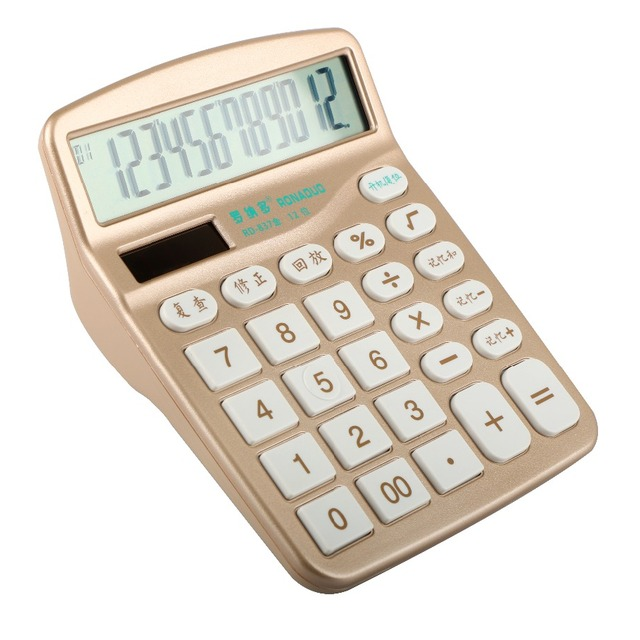 high quality 12 digits big screen dual power organizer calculator