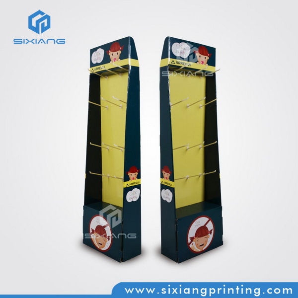 New Design FSDU Corrugated Custom Color Printing Clothing Cardboard Display for Convenience Store