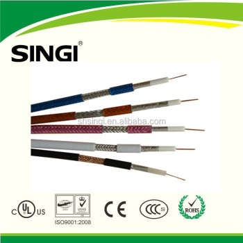 Factory best price coaxial type communication cable for cctv camera cable 1.02mm 75ohm RG6 coaxial cable