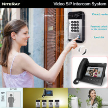 SIP video telephone work with IP video door bell phone outdoor camera