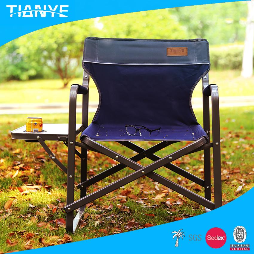 hot sell lightweight outdoor aluminium portable camping director foldable beach folding lawn chair
