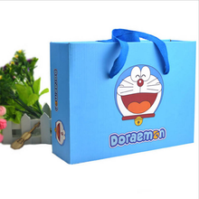 Cartoon Paper Rectangle Suitcase With Handles
