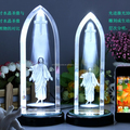 3d laser Jesus christian crystal Souvenirs gift home decotation