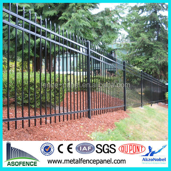 Made in China Black Cheap wrought <strong>iron</strong> garden wall fence
