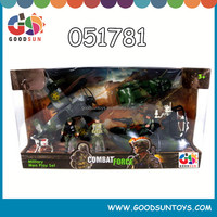 High quality low MOQ hot selling kids combat force toys set military boat military men play set