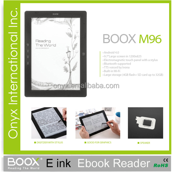 ereader reviews Onyx Boox M96 9 inch big screen wifi with stylus best ereader
