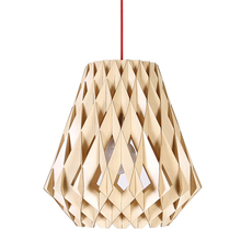 Modern wood lotus chandelier light/pendant lamp on sale