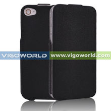 Black /Stylish Vertical Folio Design Premium PU Leather Protective Skin Magnet Flip Case /Cover /Wallet For Iphone 5C