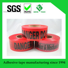 PE warning tape plastic barricade safety tape