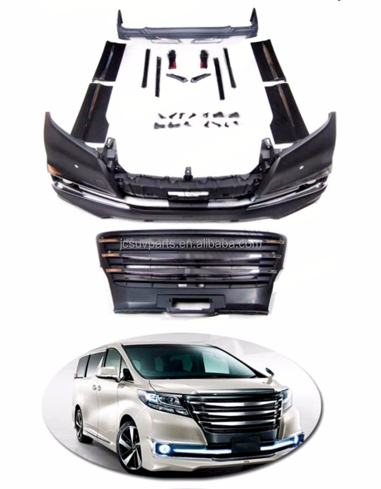 Aero Style Bumper Body Kits for Toyota Alphard 2016UP