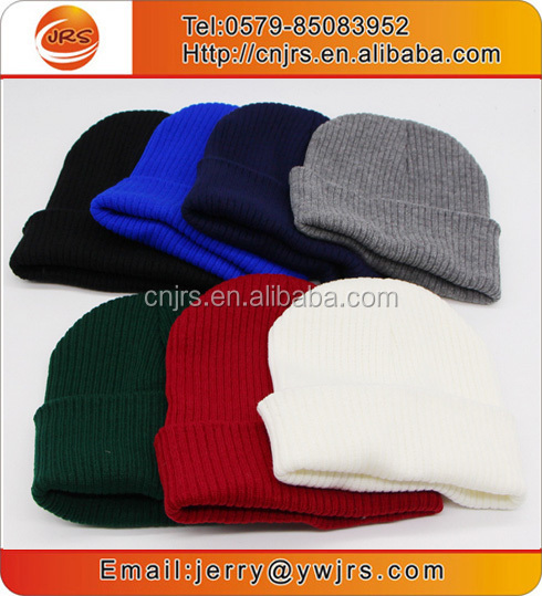 Colorful custom unique winter hats knit beanie skull cap hats