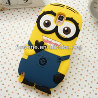 FL3314 2014 China manufacturer cute cartoon minion case for samsung galaxy note 3 n9000