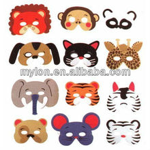 12 Zoo Animal Masks Child Size Foam Dress Up Party Favors