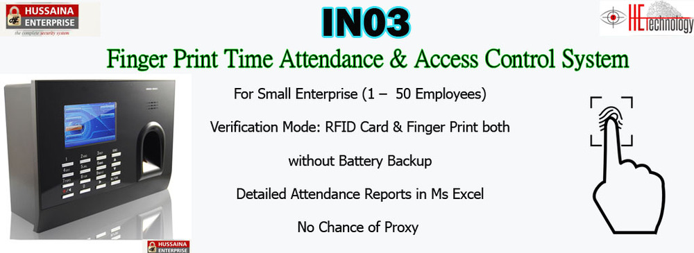 Finger Print Time Attendance System, IN03