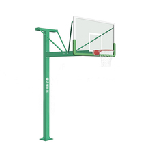 Inground fiberglass basketball pole and backboard stand for outdoor