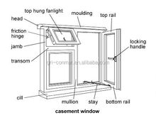 Aluminum Window/Double Sash Aluminum Casement Windows With French Hinged
