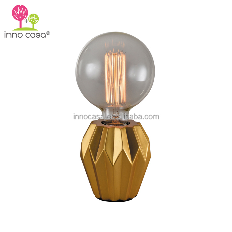 Light Therapy Modern Vintage Gold Base Edison Bulb Mood Lamp for Homeware Bedside Table Decor
