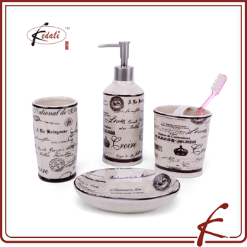 french style 4 pieces ceramic bathroom products