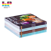 Professional Lamination Hardcover Cook Book Menu Book Printing