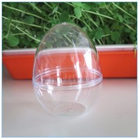 Wholesales 9CM clear plastic 2 part Egg ball Openable Hanging acrylic Christmas Ornament Balls
