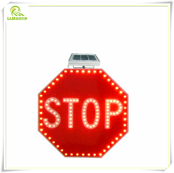 Traffic parking warning flashlight sign board