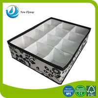 private label 210D polyester socks storage container