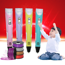3D wax art Printer Drawing Pen with LCD Display