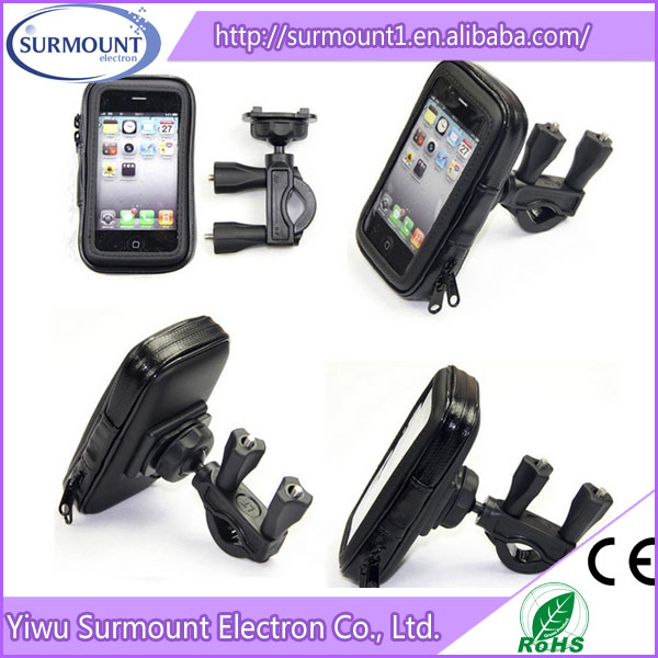 Hot Sale Bicycle Bike Handlebar Mount Cell Phone Holder With Waterproof Bag for Smart Phone