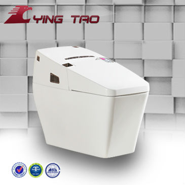 High-tech sanitary ware white color one piece square toilet intelligent toilet seat
