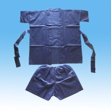 Disposable PP/SMS nonwoven hospital patient uniform patient gown disposable medical pajamas