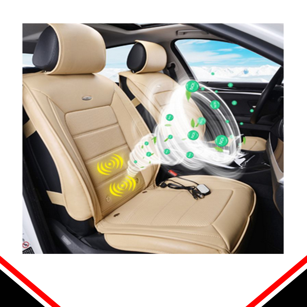 12V car polyester cooling and car back massage cushion cooler with fan