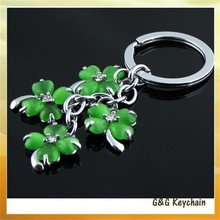 Manufacturers Direct Set Rhinestone Green Four-leaf Clover Key chain wholesale MC5167