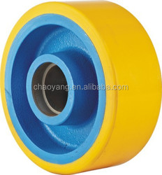europe model good quality pu wheel 300*80*90 paint blue color
