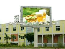 2012 new inventions energy saving p10 outdoor full color advertising video led display sign