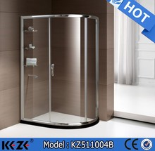 two persons shower cabin bath cubicle with glass shelves