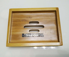 Finlandek Rectangular Bamboo Soap Holder