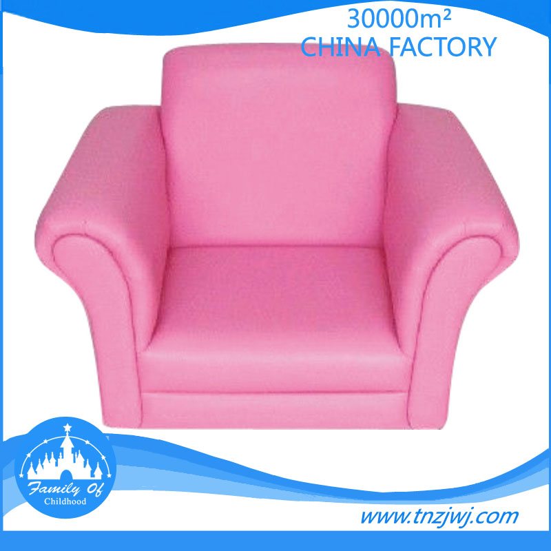 CE approved Leather pink princess kid small sofa