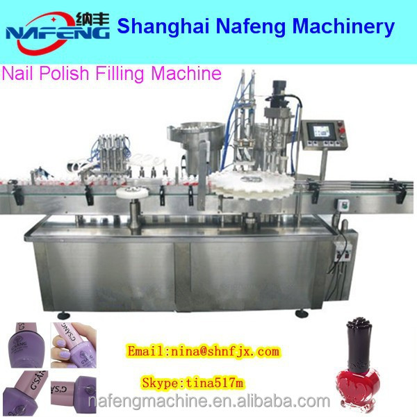 Shanghai NFDGK-I/II Manual nail polish armor oil automatic bottling machine filling production line