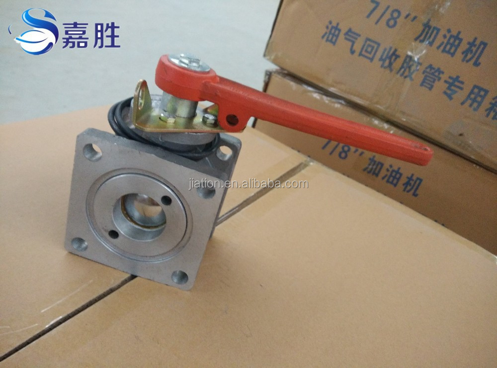 Aluminium Alloy unloading Square Ball Valve with Handle
