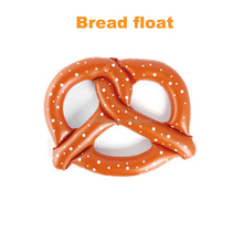 inflatable bread float PVC airbed island for adult children swimming Ring in water