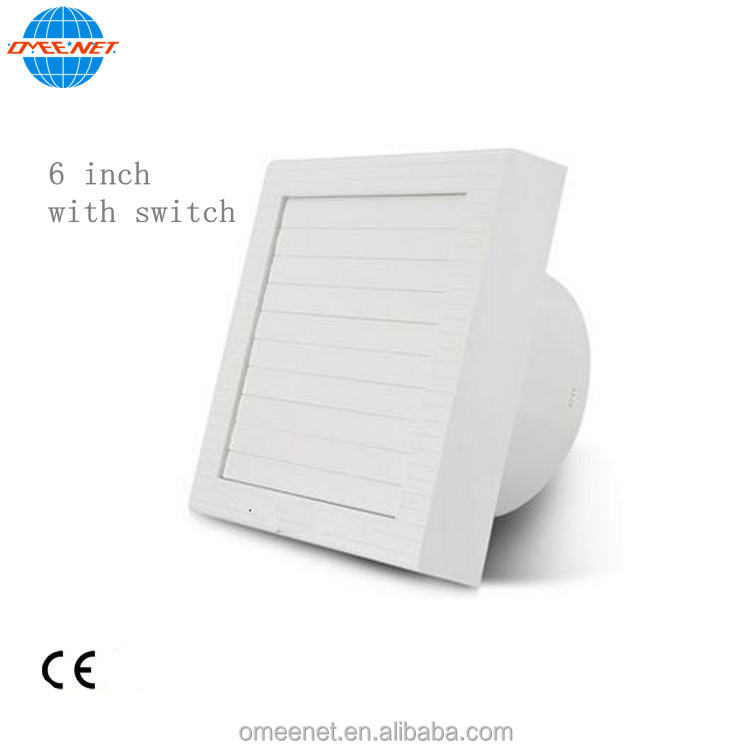 Hot Sale Low Noise Plastic Panel Wall Mounted Axial Exhaust Fans