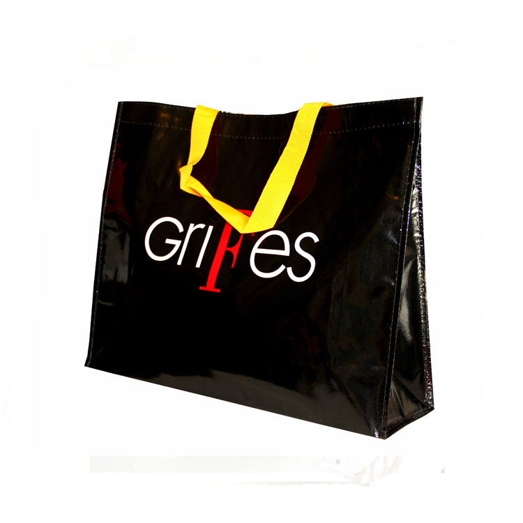 top quality oem customized durable yiwu woven tote shopping bag with logo printed