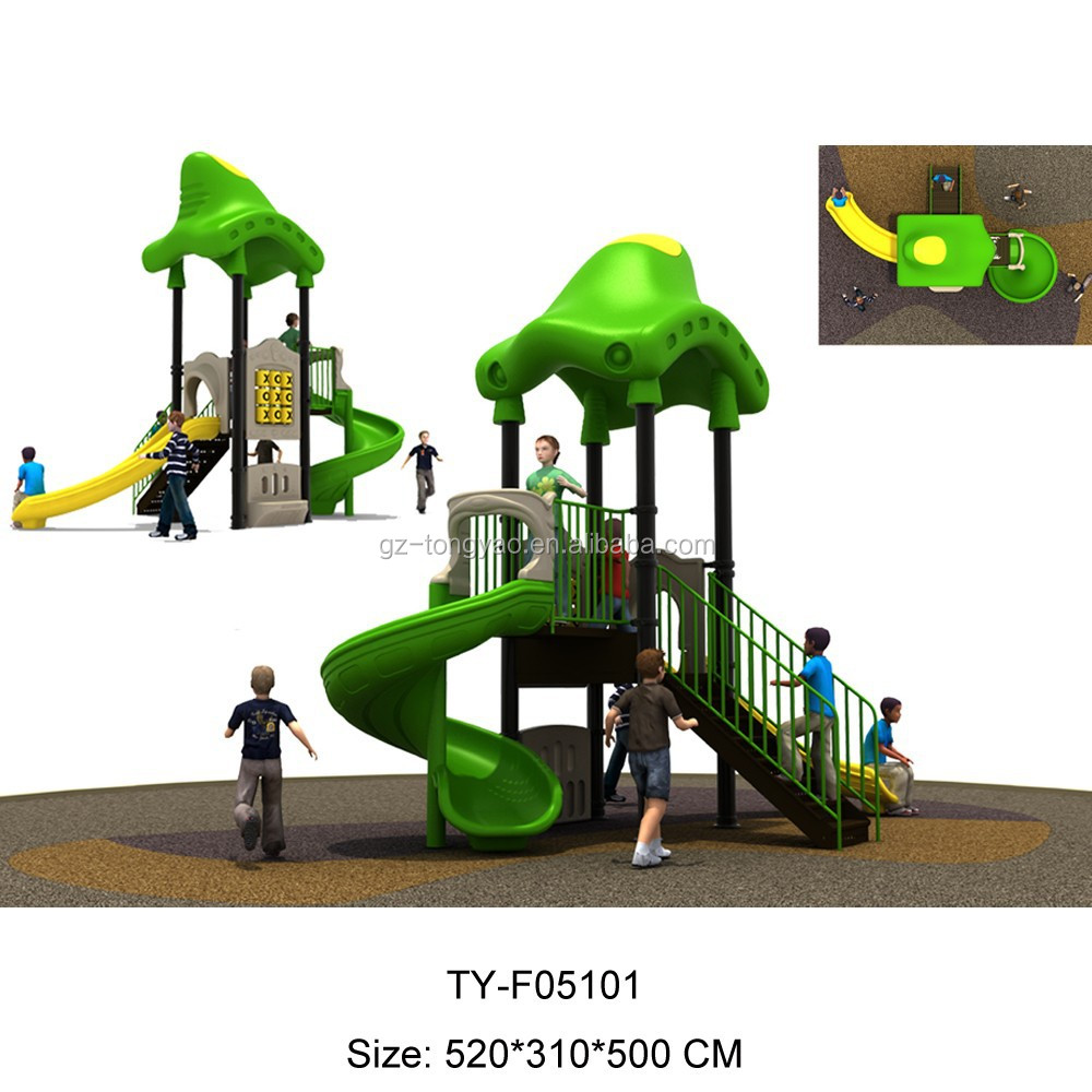 Kids Outdoor Playground For Plastic Garden Of Amusement Equipment
