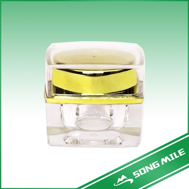Green gold yellow etc OEM&ODM factory cosmetic acrylic jar