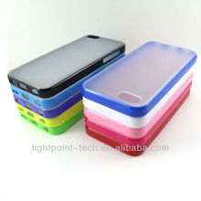 hot sell transparent PC+TPU clean hard case for iphone5c